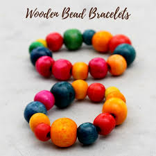 Wooden Crafts For Gifts by Wooden Bead Bracelet Kids Craft Gift Idea Rhythms Of Play