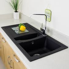 astini arturo 1 5 bowl black composite synthetic kitchen sink