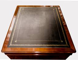 antique english mahogany partners desk sn629