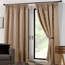Curtains 46 Inches Luxury Modern Cuba Fully Lined Curtains Plain Waves Design Pencil