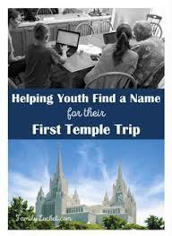 Important steps to help youth find a name for the temple and verify the identity of