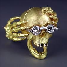 gold skull rings images Kim eric lilot the dreamer 18kt yellow gold skull ring diamonds jpg