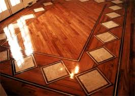 inlay wood floors inlays with brass accents