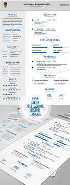resume templates free doc 20 free cv resume templates 2017 freebies graphic design