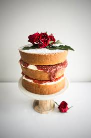 victoria sandwich cake with rhubarb and rose petal jam u2013 butter