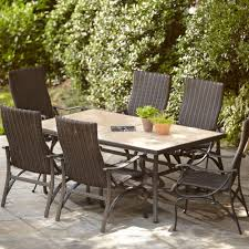 7 Piece Aluminum Patio Dining Set - hampton bay pembrey 7 piece patio dining set hd14214 the home depot