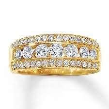 yellow gold diamond rings diamond ring 1 ct tw cut 14k yellow gold