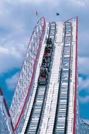 Goliath Six Flags Magic Mountain Goliath Six Flags Giant Wooden Roller Coaster Breaks Records