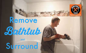 How To Remove A Tile Backsplash how to remove a fiberglass bathtub and surround in 60 minutes