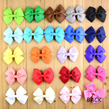how to make hair bows for 22pcs diy craft 3 5 grosgrain ribbon hair bows without