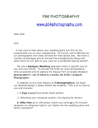ideas of photography introduction letter about sample proposal