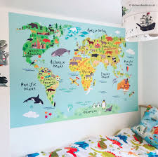 world map fabric wall sticker for kids world map fabric wall sticker for kids