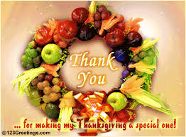 thanksgiving a special one free thank you ecards greeting cards