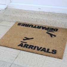 Fun Doormat Buy Artsy Doormats Arrivals Departures Door Mat Amara
