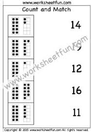 count and match u2013 numbers 1 20 u2013 one worksheet kindergarten