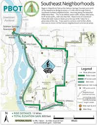 Portland Bike Map by Best Bike Rides Around Portland Maplets