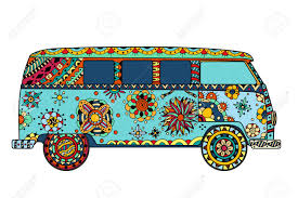 surf car clipart vintage car a mini van in style hand drawn image the popular