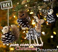 diy pine cone animal ornament top easy decor