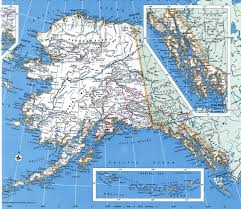 Alaska Map Cities by Alaska County
