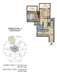 2bhk 453100 pareena laxmi appartment sector 99a affordable housing