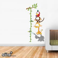 baby jungle height chart wall stickers height chart wall uk wall stickers for kids boys and girls designer wall stickers beautiful wall decals for kids