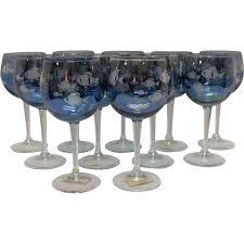 italian wine glasses fl italian wine gles set of 6 unique