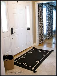 bedroom charming black rug by pottery barn teens on beige tile