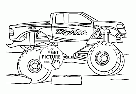 cool monster truck bigfoot coloring page for kids transportation