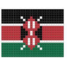 Kenya Africa Flag Flag Of Kenya Pixel Art U2013 Brik