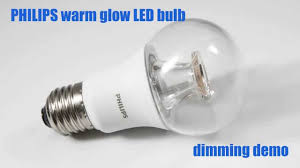do you need special light bulbs for dimmer switches philips warm glow led bulb dimming demo youtube