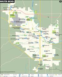 Georgia Map With Cities South Bend Map City Map Of South Bend Indiana