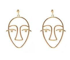 vire earrings picasso wire earrings statement simplengreat