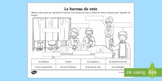 image bureau de vote feuille d activités le bureau de vote les élections