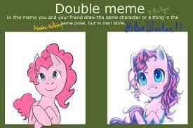 Double Meme - double meme pinkie pie by bluewinter17 on deviantart
