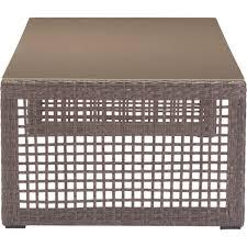 Coronado Patio Furniture by Zuo Modern 703825 Coronado Outdoor Coffee Table In Woven Cocoa