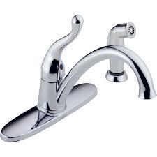 shop delta talbott chrome 1 handle low arc kitchen faucet with