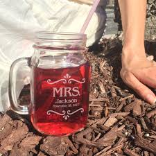 tea wedding favors personalized mason jar mugs rustic