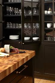 black cabinet with glass doors black built in china cabinet with brass hardware transitional
