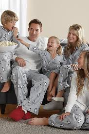 ski school penguin family pajamas pjs family