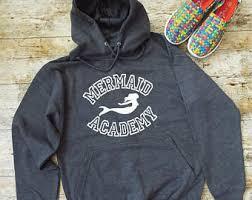 mermaid hoodie etsy