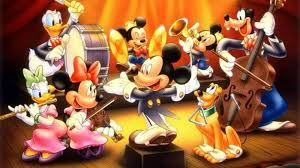 disney orchestra mickey mouse pluto and donald duck characters