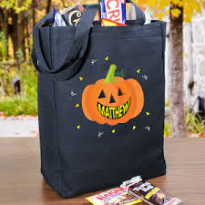 personalized trick or treat bags abernook gifts find gifts by occasion