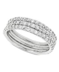 set ring giani bernini sterling silver ring set cubic zirconia stackable