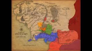 Lord Of The Rings World Map by War Of The Ring Map Youtube