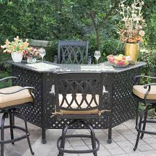 Patio Furniture Bar Set - darlee san marcos 5 piece cast aluminum patio party bar set with