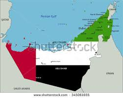 map of the uae united arab emirates highly detailed political stock vector