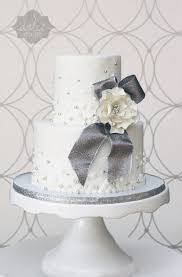 Engagement Party Pinterest by White And Silver Engagement Party Cake Gumpaste Flower With