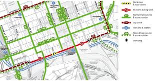 melbourne tram map yarra trams routes 70 75 city circle tram power upgrade