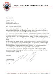 cal fire inyo mono san bernardino unit letter of appreciation