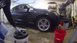 how to wash your car in your garage without a hose youtube